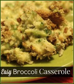 This easy broccoli casserole recipe is sure to be a hit for Thanksgiving or Christmas! A creamy blend of cheese and broccoli with a crunchy topping. Also great as a main dish when you add in leftover turkey or chicken!