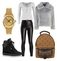 """Monday"" by madisonkiss on Polyvore featuring Louis Vuitton, Topshop and Rolex"