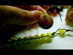como hacer un bello rosario paso a paso con medallas,cruses lo que les g...