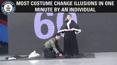 Most costume change illusions in one minute