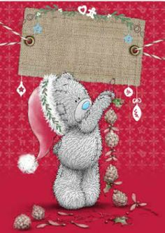 <3 Tatty Teddy <3 Teddy Images, Teddy Pictures, Bear Pictures, Cute Images, Cute Pictures, Tatty Teddy, Christmas Topper, Christmas Art, Vintage Christmas