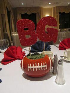 HS Football Banquet centerpiece