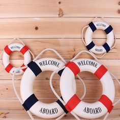 Puppen Baby Born Bright 22cm Nautical Wood Blue White Life Ring Mobile Wall Hanging Decor Sea