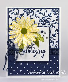 Stampin Up Floral Boutique and Daisy Delight card by Kristi @ www.stampingwithkristi.com