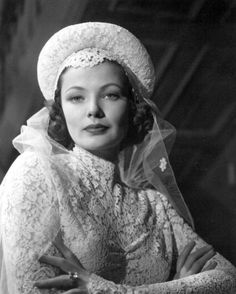 Portrait of Gene Tierney in The Razor's Edge directed by Edmund Goulding, 1946.