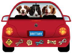 BRITTANY-PUP MOBILE MAGNET