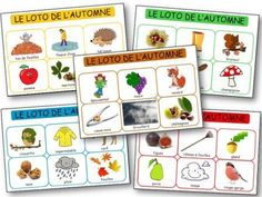 Lotto boards to print for kindergarten Petite Section, Daycare Themes, Kindergarten, French Teaching Resources, Bingo, French Lessons, Autumn Theme, Speech Therapy, Autumn