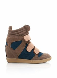 I have these in all black and they are the most comfortable wedge I've ever had!  suede wedge sneakers
