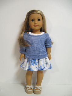 American Girl Doll Clothes-Summer Blues by 123MULBERRYSTREET