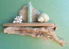 Driftwood Wall Shelf  Natural Driftwood Hanging by DivineDriftwood