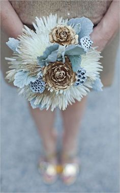 wedding flower ideas for the winter. This would be the perfect style and size for the maids.