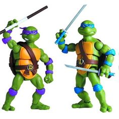 Teenage Mutant Ninja Turtles Classic Collection Donatello and Leonardo