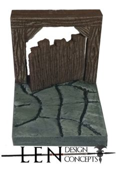 """A 2' x 2"""" door tile that is available for the Abandoned Mines Themeset.  The door itself is cast in resin and can be removed, inserted and can swing open.  The base and frame is available in both a hydrostone compound and resin.  It is compatible with Dwarven Forge, dungeonstone and Hirst Arts builds."""