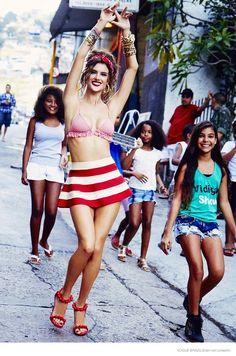 alessandra ambrosio ellen von unwerth 2014 07 Alessandra Ambrosio is a Modern Pin Up for Vogue Brazil by Ellen Von Unwerth