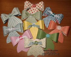 Homemade bows made with Designer Series Papers and Gift Bow Bigz L Die.