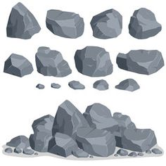 Find Rock Stone Set Cartoon Stones Rocks stock images in HD and millions of other royalty-free stock photos, illustrations and vectors in the Shutterstock collection. Rock Background, Background Drawing, Digital Painting Tutorials, Art Tutorials, Shading Drawing, Wall Drawing, Games Design, Best Anime Drawings, Shading Techniques
