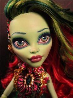 OOAK Monster High Doll Mermaid Venus Mcflytrap Custom