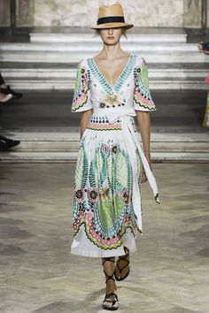 Temperley London Spring 2016 Ready-to-Wear Fashion Show  ...that dress is so not my style but it's gorgeous, I'd wear it in a heartbeat but it MUST have that hat...