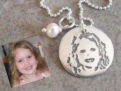 Childs photo necklace - Mom Jewelry Mom Jewelry, Photo Jewelry, Christmas Bulbs, Families, Kid Stuff, Christmas Light Bulbs, Mother Jewelry, My Family, Mommy Jewelry