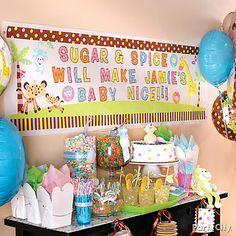 decoración salon baby shower - Buscar con Google
