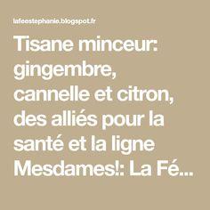 Tisane minceur: gingembre, cannelle et citron, des alliés pour la santé et la ligne Mesdames!: La Fée Stéphanie