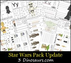 Free Star Wars Pack Update - for ages 5 to 8 lots of math and Langauge