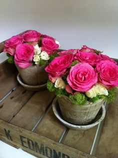 DIY Flower Arrangements. Cheaper and looks just as great (if you need a lot for a shower or party)