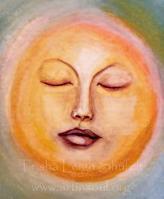 ACEO Original Watercolor The Sun by ArtInSoulorg on Etsy