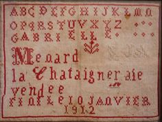 Cross Stitch Red & White - 1912