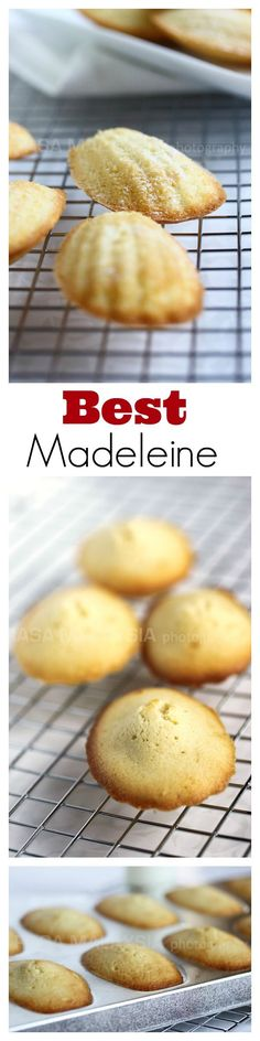The BEST French Madeleine recipe ever - sweet, dense, buttery Madeleine that tastes just like they were made in Paris