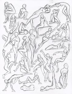 drawing poses Figure drawing studies - poses by on deviantART Figure Drawing Reference, Anatomy Reference, Art Reference Poses, Female Reference, Figure Drawing Practice, Figure Drawing Tutorial, Human Reference, Figure Sketching, Character Reference