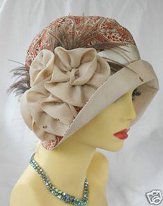 1920s Vintage Inspired Silk Cloche Hat Flapper Great Gatsby Downton | eBay