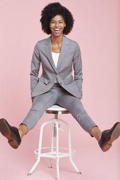 Women's Light Gray Suit Jacket #weddings #graysuit Gray Jacket, Suit Jacket, V Shape Cut, Light Grey Suits, Neutral Bridesmaid Dresses, Stylish Suit, Slim Fit Suits, Groomsmen Suits, Type Of Pants