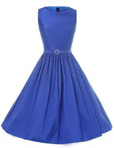 GownTown Women`s Party Dress 1950s Vintage Retro Party Swing Dress Rockabillty Dress