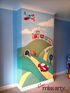 Boy's Transport Wall mural