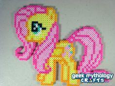 Fluttershy - My Little Pony Friendship is Magic - Perler Bead Sprite