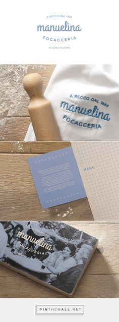 Manuelina Focacceria packaging branding on Behance by Emilio Lenzi curated by Packaging Diva PD. I love focaccia  : )