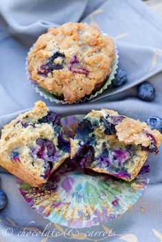 Whole Wheat Blueberry Muffins using old fashioned oats. Again sub the canola oil with coconut oil.