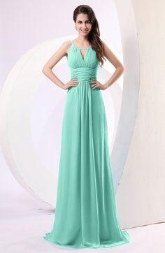 Seafoam Green Simple Column Scoop Chiffon Ruching Bridesmaid Dresses Cheap  Graduation Dresses de06fc12d485
