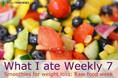 What I ate Weekly 7 Smoothies for weight loss