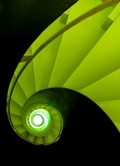 Spiral Staircase in Black and Green, Allerheiligen Hofkirche - Munich Verde Greenery, Stairs To Heaven, Beautiful Stairs, Take The Stairs, Stair Steps, Staircase Design, Art Furniture, Architecture Details, Interior Architecture