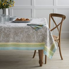 "Easter Jacquard Tablecloth, 70"" X 108"""