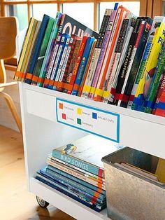 Ideas Home Library Organization Kids Organizing Kids Books, Library Organization, Organization Hacks, Organizing Tips, Organize Kids, Kindergarten, Smart School, Challenge, School Classroom