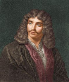 Colorized engraving shows a portrait of French writer Moliere (1622 - 1673), late 1600s. (Photo by Stock Montage/Getty Images)