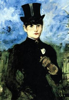 Édouard Manet - Horsewoman (detail) Manet was a French painter. One of the first 19th-century artists to approach modern and postmodern-life subjects, he was a pivotal figure in the transition from Realism to Impressionism.