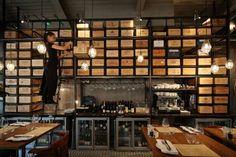 Foto di Marketing per Wine Workshop & Kitchen Wine Bar Design, Wine Cellar Design, Restaurant Design, Restaurant Bar, Eclectic Restaurant, Bar A Vin, Bar Design Awards, Wine Display, Cafe Bistro