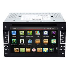 2-DIN 6.2 Inch Android Car Stereo Video Player Double Din Car DVD Bluetooth FM Wifi 3G GPS Car DVD Player with GPS Navigation