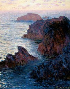 Claude Monet, Rocks at Belle Ile, Port Dormois