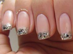 Sparke rose nail design