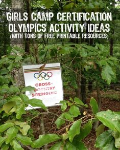 Girls camp certification Olympics activity with free printable versions of everything you need from playpartypin.com
